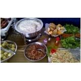 buffet de churrasco e saladas preço em Santa Isabel
