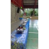 buffet de churrasco e saladas em Itaquaquecetuba