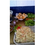 buffets de churrasco e saladas em Mongaguá