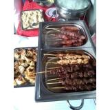 churrasco para evento em espetinhos em Cajamar