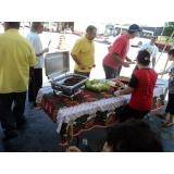 festa de churrasco com churrasqueiro em empresas preço Embu das Artes