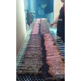 serviço de buffet de churrasco carne e carvão na Praia Grande