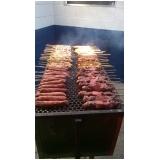 venda de espetinho de carne para festa em Cubatão