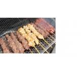 venda de espetinho de frango para festa em Bertioga
